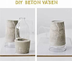 Beton Vase Selber Machen : nachmachtipp vasen aus beton sinnenrausch diy und interior blog ~ Markanthonyermac.com Haus und Dekorationen