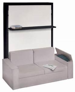 armoire lit avec canape integre pour un veritable gain de With tapis moderne avec lit escamotable canapé
