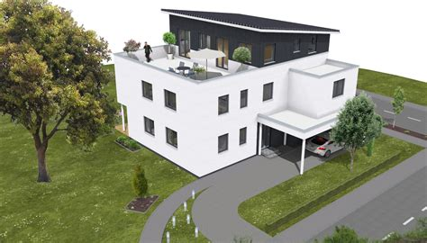 Mit Dachterrasse by Modernes 3 Familienhaus Dachterrasse 2p Raum De