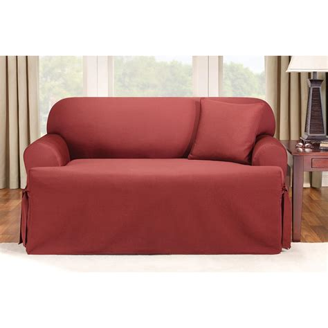 Slipcovers For Couches With Cushions by Sure Fit 174 Logan T Cushion Sofa Slipcover 292833