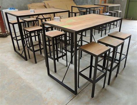 table cuisine industrielle 1000 images about table haute metal bois industrielle sur