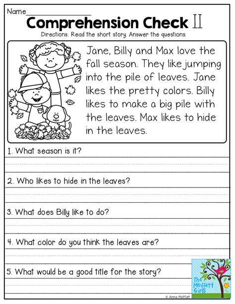 Comprehension Checks And So Many More Useful Printables!  Best Of First Grade Pinterest