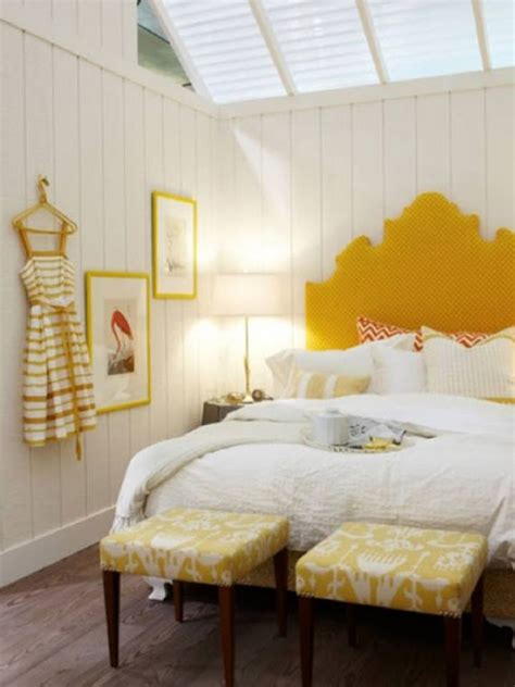stylish bedroom design ideas with yellow colors and
