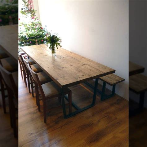 beautiful hand reclaimed wood dining room table