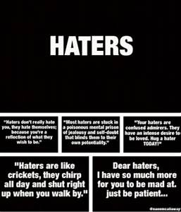 To Haters Mean ... Anti Hater Quotes