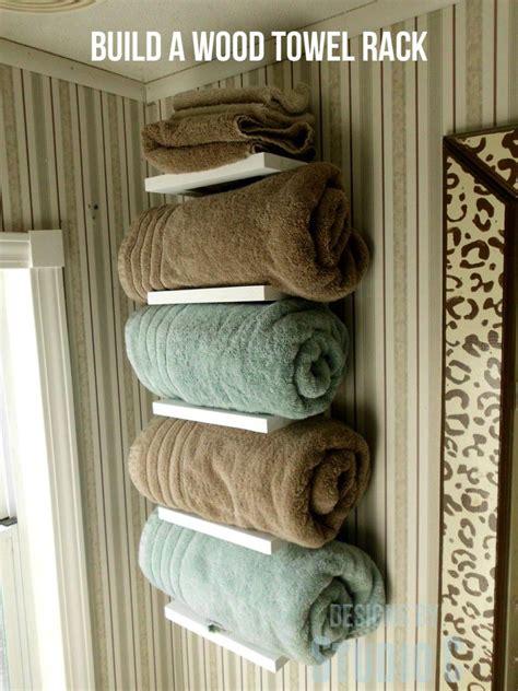 diy project plan learn   build  wooden towel