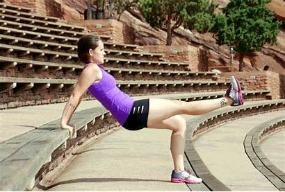 Workout Outdoor Dips Stair Triceps Leg Stairway