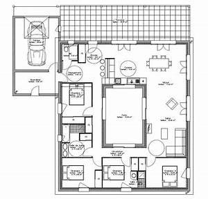 maison maison pro ecor patio lafarge faire construire With plan maison avec patio 0 plan maison carree avec piscine ooreka