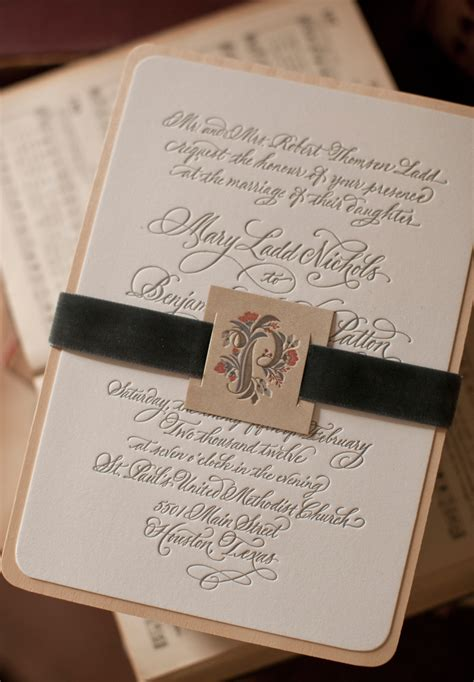 Mary Bens Elegant And Rustic Letterpress Wedding