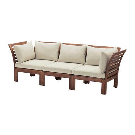 canapé exterieur ikea äpplarö hållö canapé 3 places extérieur teinté brun