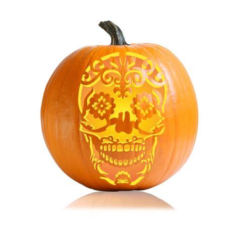 sugar skull pumpkin carving stencil ultimate pumpkin