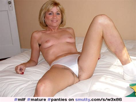 Milf Mature Panties Thong Spread Hairy Blonde