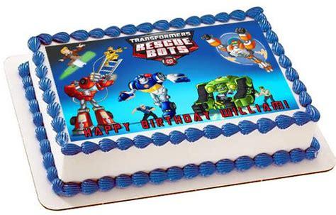 transformers rescue bots nr edible cake topper