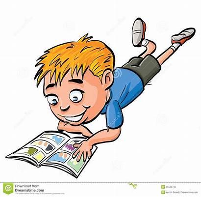 Comic Che Legge Ragazzo Buch Libro Fumetto