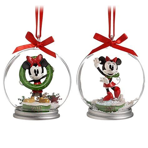 disney mickey and minnie mouse christmas ornament set