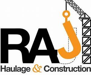 RAJ Haulage and Construction Logo Design on Behance