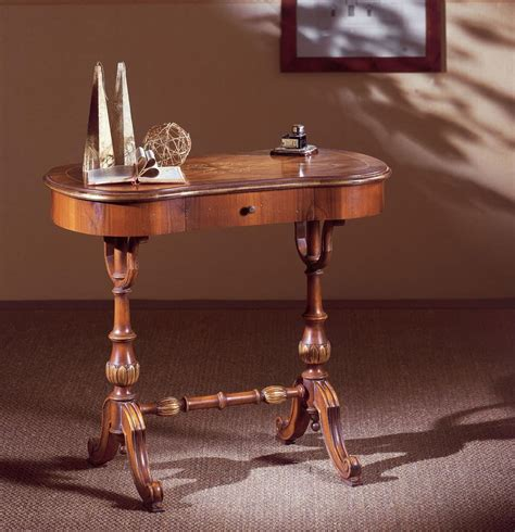 writing desk  hand carved wood  drawer classic