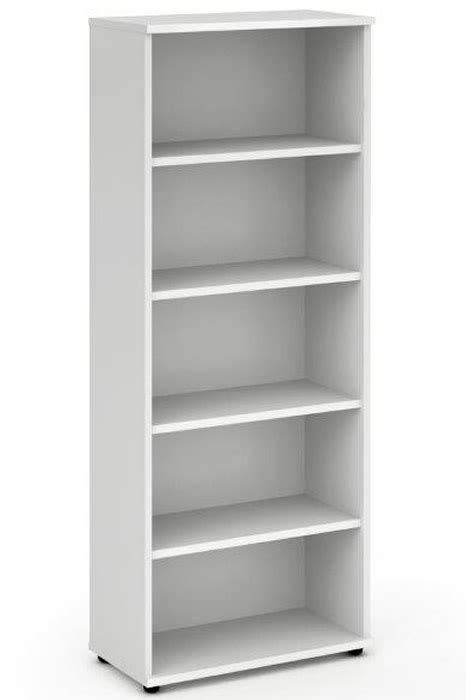 White Office Bookcase by White 2000mm Office Bookcase Adjustable Shelves Polar