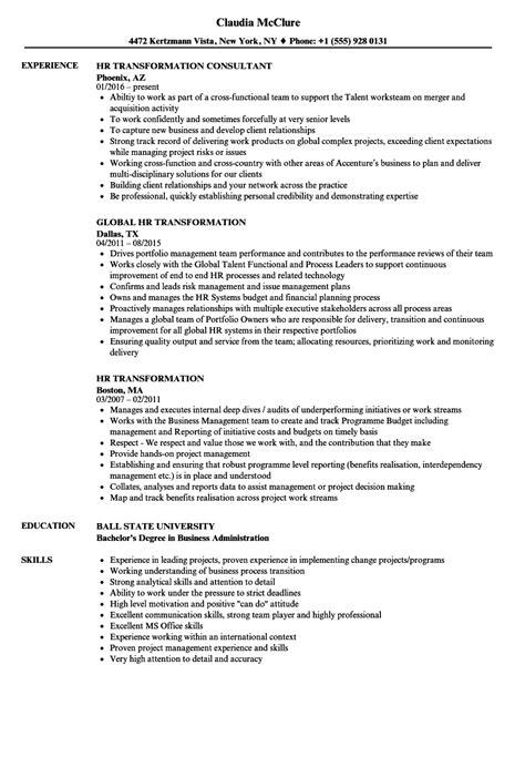 Hr Transformation Resume Samples  Velvet Jobs