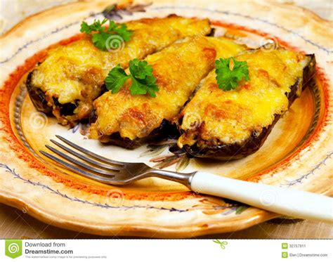 cuisine greque cuisine grecque chaussures d 39 aubergine image stock