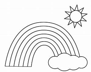 preschool free printable coloring pages of rainbows many With rainbow templates to colour