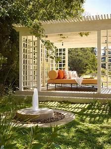 terrasses couvertes pergola design offrant des espaces With terrasse bois avec pergola