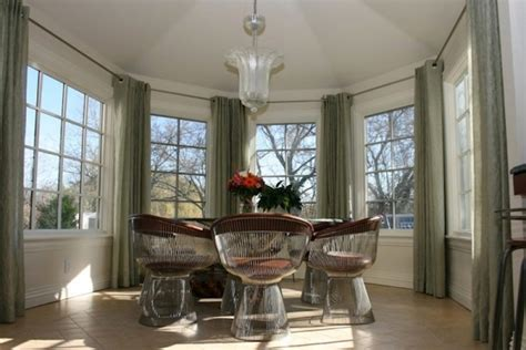 small living room ideas with fireplace octagon room dining room traditional with green curtains