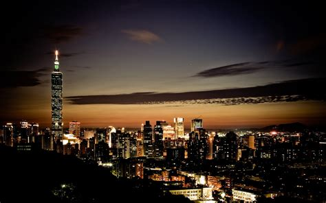 High quality image of the city, photo of night lights ...