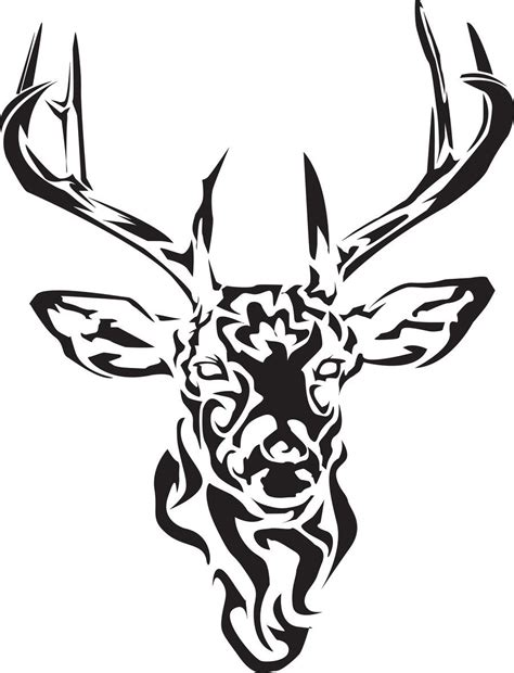 black tribal deer tattoo design deer deer tattoo stag