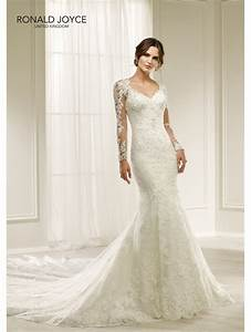 Ronald joyce 69217 hilaria beautiful lace slim fitting for Slim fitting wedding dresses