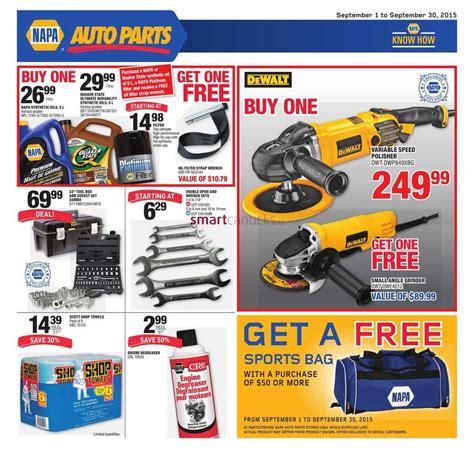 Napa Auto Parts Flyer September 1 To 30