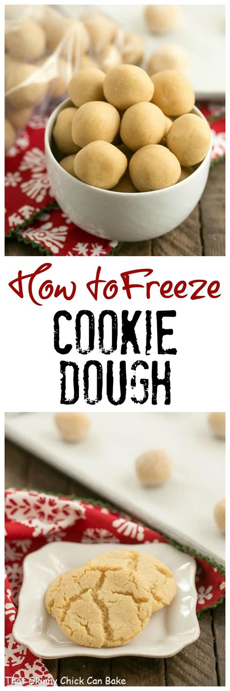 Most cookies can be made and frozen 60 days ahead of time. How to Freeze Cookie Dough - That Skinny Chick Can Bake