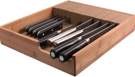 Organize Kitchen Knives by Wusthof In Drawer Knife Organizer Home Design Ideas