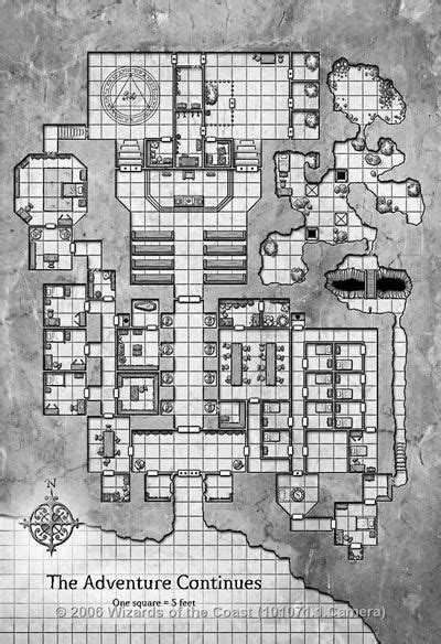 Temple of Clangaddin | Dungeon maps, Fantasy map, Tabletop