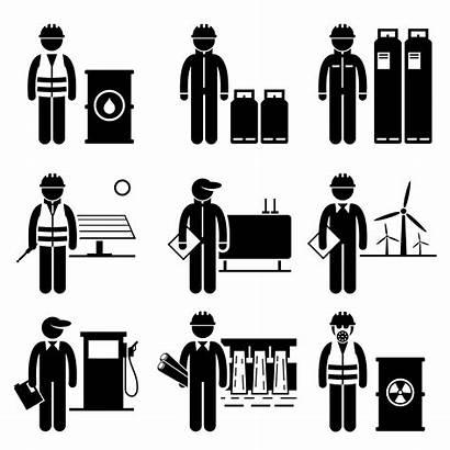 Energy Icon Power Vector Stick Engineer Cartoon