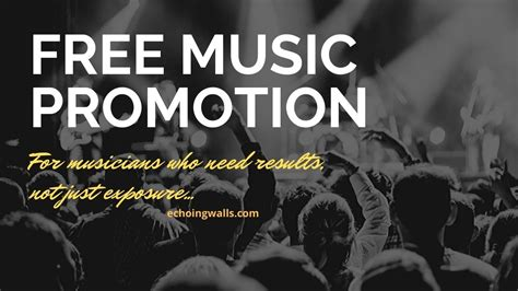 Discover astounding free stock music tracks from a growing audio library to use in your next video editing project. About Free Music Promotion | Free Music Publishing - Echoingwalls