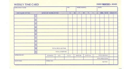 time card template anyone template for time cards file contractor talk