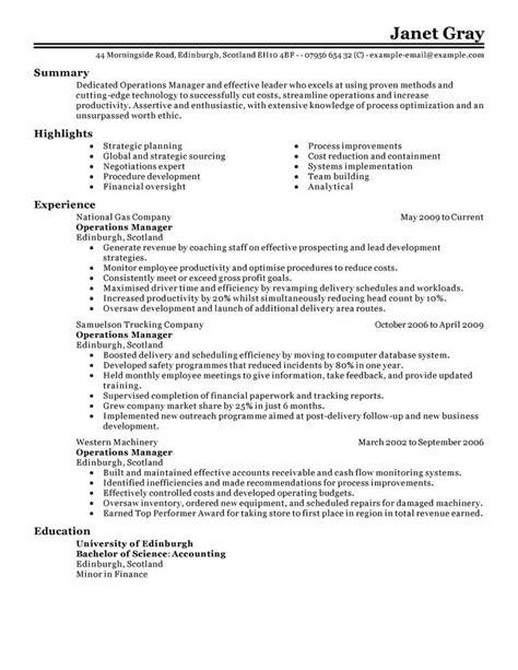 11 Amazing Management Resume Examples | LiveCareer