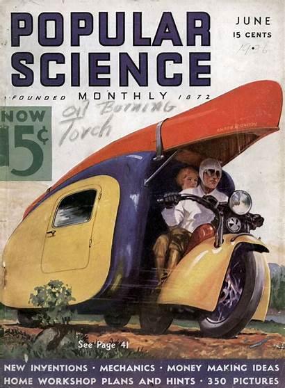 Popular Science 1936 Plans Motorcycle Camper Trailer
