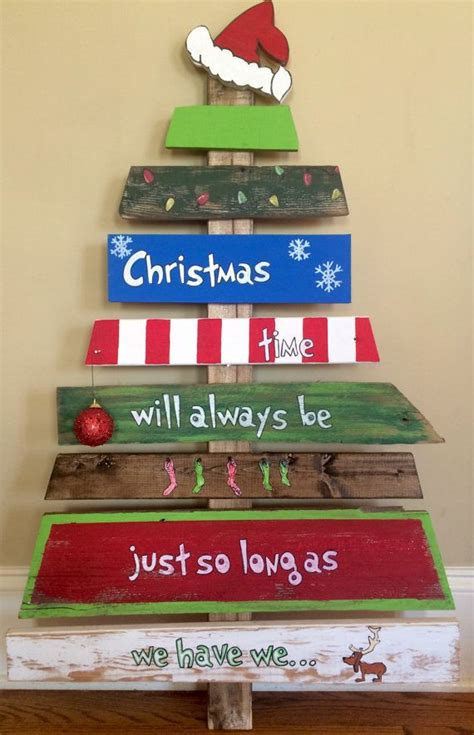 hand painted grinch christmas tree reclaimed wood