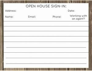 real estate open house sign in sheet printable tire With realtor open house sign in sheet template