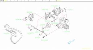 2009 Subaru Outback 3 0l 5at Limited Tensioner Assembly