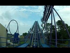 Six Flags Bizarro POV HD Roller Coaster Front Seat On Ride ...