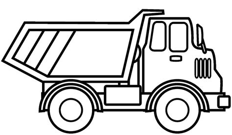 gambar mewarnai mobil truk gambar mewarnai lucu
