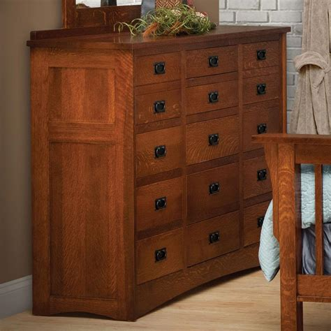 35 Inch Wide Dresser by 15 Drawer Solid Wood Dresser By Daniel S Amish