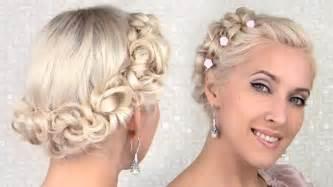 hair for wedding easy prom wedding updo hairstyle for medium hair tutorial