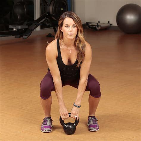 kettlebell squat clean bodybuilding exercises female