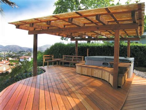 Tub On Deck by Gorgeous Decks And Patios With Tubs Diy