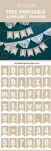 check out this darling free printable burlap alphabet banner With burlap banner letters