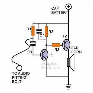 simple car burglar alarm homemade circuit projects With simple alarm system